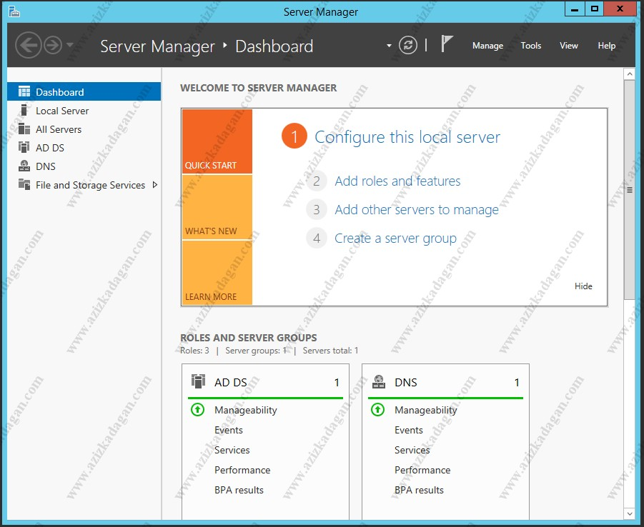 Windows Server 2012 R2 File Server Kurulumu